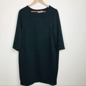 Tulip Black Textured Lagenlook LBD Dress